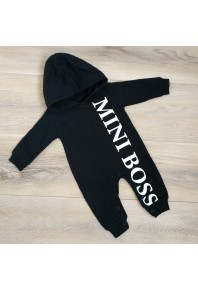 Детский ромпер с капюшоном MINI BOSS