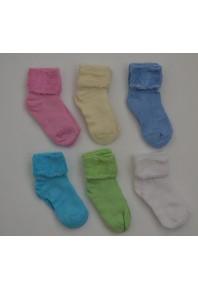 Носочки однотонные для новорожденных (махровые)
