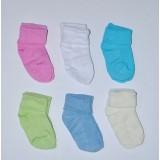 носочки однотонные для новорожденных (тонкие)