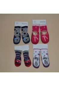 Махровые носочки-тапочки