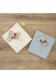 """детское полотенце для купания с капюшоном """"коала"""""""