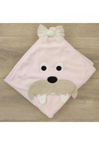 детское полотенце для купания с капюшоном