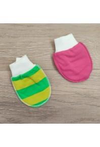 Рукавички-нецарапки для новорожденных 100% хлопок (комплект 2 шт.)