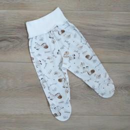 ползунки на широкой резинке с наружными швами для новорожденных