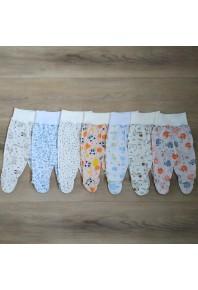 ползунки на широкой резинке с наружными швами для новорожденных 100% хлопок
