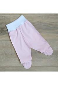 розовые ползунки на широкой резинке для новорожденных