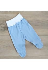 голубые ползунки на широкой резинке для новорожденных