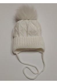 Шапочка белая для новорожденных